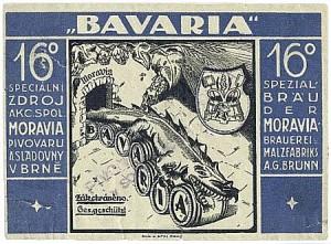 etiketa pivovaru Moravia